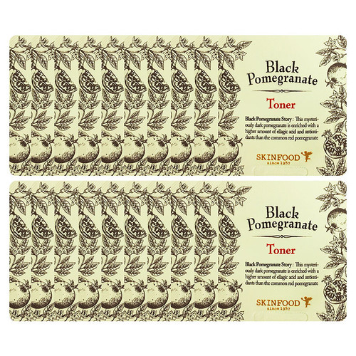 SKIN FOOD Black Pomegranate Toner Sample 20PCS