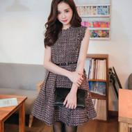 Tweed Sleeves Dress