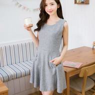 Bow Slim Zipper Dress