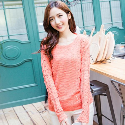 Bright Color Knit Top