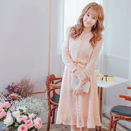 Tie Waist Lace Dress