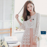 Flower Woven Hollow Crochet Cardigan