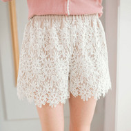 Women Crochet Lace Shorts