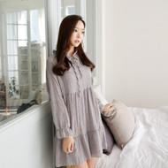 Plain Ruffle Dress