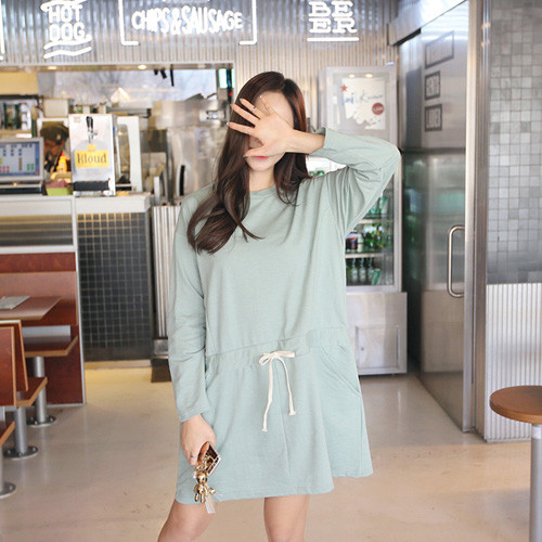 Drawstring Waist T-Shirt Dress
