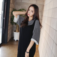 Sleeveless Long Rib Knit Dress