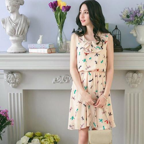 Doll Collar Printed Dress