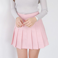 A-Line Mini Pleated Skirt