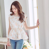 Flower Print Swing Top