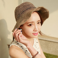 Mixing Ribbon Straw Hat