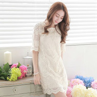 Flower Print Lace Dress