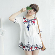 Embroidered Fringed Shirt
