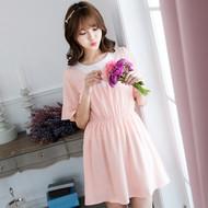 Pink V-Neck Dress