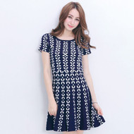 Decorated Beads Knit Dress
