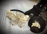 Pearl Flower Hair Tie