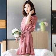 Pink Waist Strap Dress