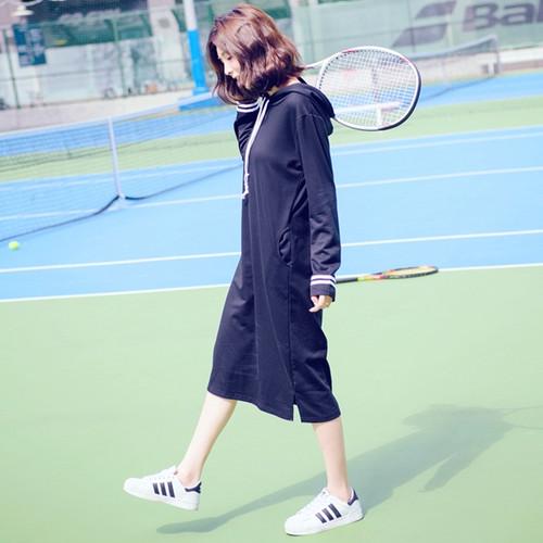 Hoodie Sporty Maxi Dress