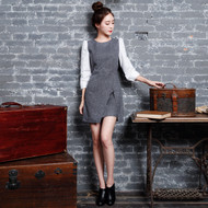 Cross Front Slit Dress