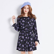 Lady Flower Print Dress