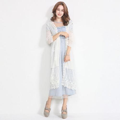 Lace Long Sleeve Blazer