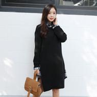 Simple Knit Sweater Dress