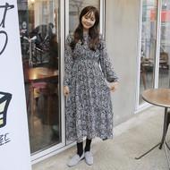 Floral Print Shirred Waist Maxi Dress