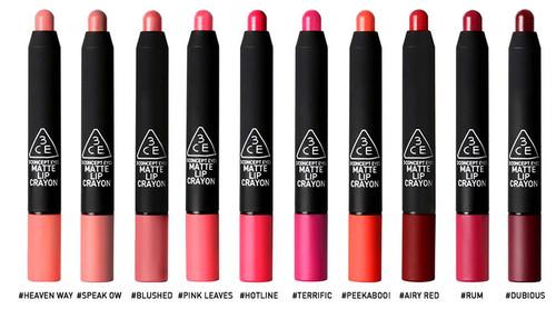 3CE 3 Concept Eyes Matte Lip Crayon