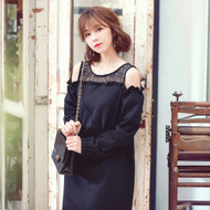 Black Woolen Dress