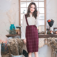 Bowknot Decorative Check Dress