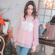 Lady Hollow Lace Blouse
