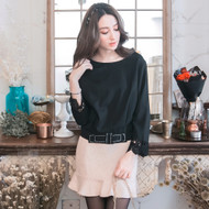 Waist Knot Decorated Lace Blouse