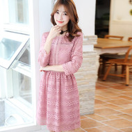 Pink Lacey Flower Dress