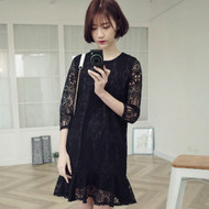 Black Swing Lace Dress