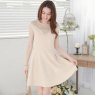 Lady Lace Stitching Sleeveless Dress