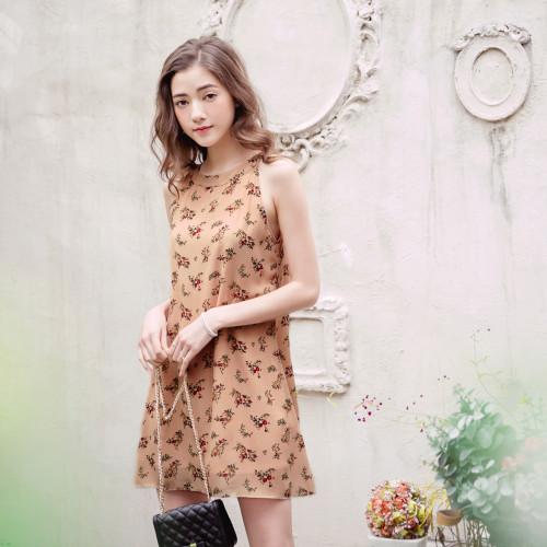 Elegant Flower Print Dress