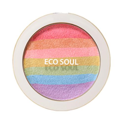 the SAEM Eco Soul Rainbow Blusher