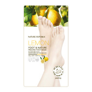 NATURE REPUBLIC Lemon Foot & Nature Peeling Foot Mask 25gx2each
