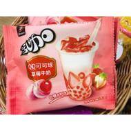 Nougat Taiwanese Strawberry Milk QQ Ball Candy 4 Packs