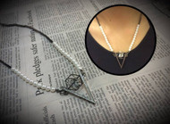Stylish Triangle with Small Pearl Necklace