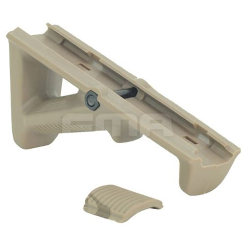 AIRSOFT FMA2 ANGLED TAN FOREGRIP AEG GRIP DARK EARTH 20mm RAIL 115mm LONG