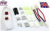 Motor Wire Battery Clips Connector Tamiya Deans Heat Male Female T Set