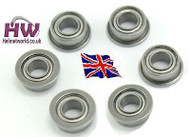 AIRSOFT AEG GEARBOX 6MM METAL BEARINGS X6 UK DELIVERY