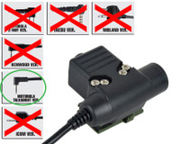AIRSOFT PTT RADIO BUTTON ZTACTICAL Z SORDINS U94 MOTOROLA 2 WAY 1 PIN SWITCH
