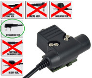 Airsoft Ptt Radio Button Ztactical Z Sordins U94 Kenwood 2 Way 2 Pin