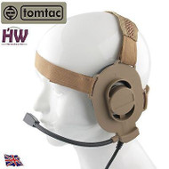 Tomtac Bowman Elite Ii 2 Headset Boom Mic Tan Sand De Helmet Radio Uk