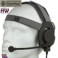 Tomtac Bowman Evo Iii 3 Headset Boom Mic Grey Green Helmet Radio Uk