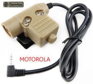 AIRSOFT TOMTAC U94 PTT TAN 2 WAY RADIO SWITCH SORDINS COMTAC MOTOROLA 1 PIN PUSH
