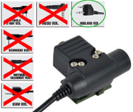 Tomtac U94 Ptt Black 2 Way Radio Switch Sordins Comtac Midland 2 Pin