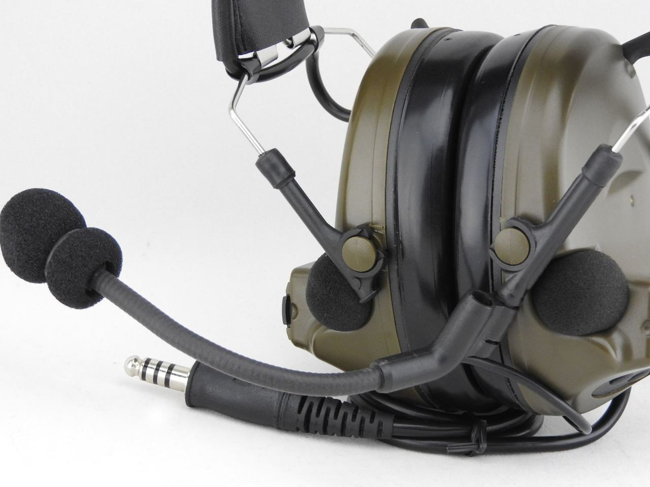 d0077152132 AIRSOFT TOMTAC COMTAC II 2 HEADSET MIC BOOM RADIO PELTOR DESIGN OD GREEN.  Your Price: £63.95 (You save £11.04). Image 1. Larger / More Photos