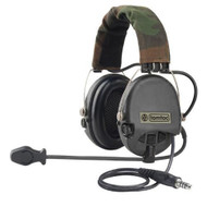 AIRSOFT TOMTAC SORDIN HEADSET MIC BOOM RADIO MSA DESIGN / BLACK